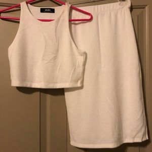 Lulus white two piece coord set